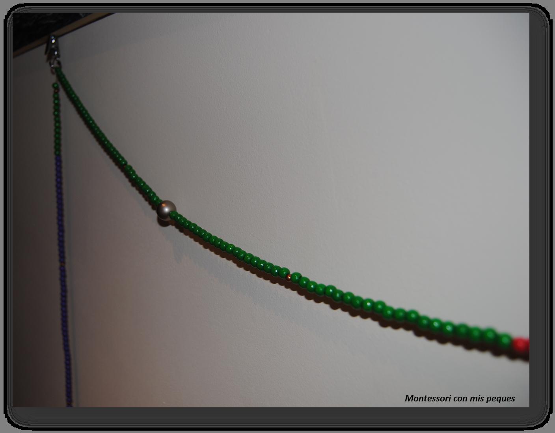 Nuestro collar de perlas estacional | Montessori con mis