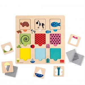 puzzle texturas colores